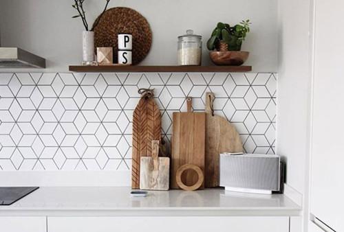 Piastrelle Paraschizzi geometrico cucina