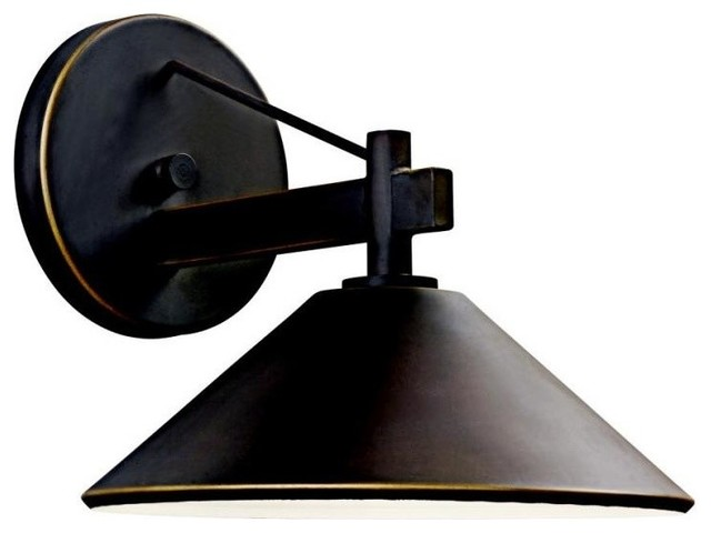 Kichler Ripley 1-Light Outdoor Wall Sconce - Outdoor Wall Lights And Sconces Houzz