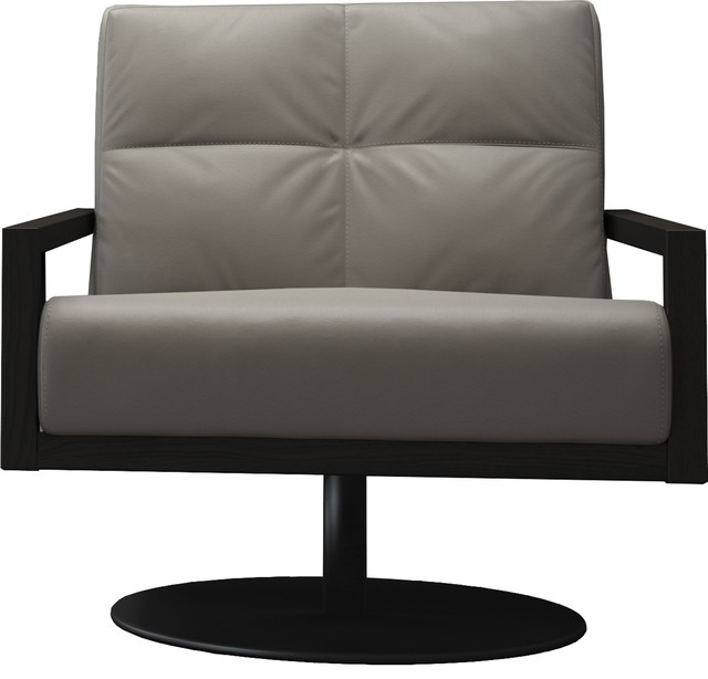 Awesome Clarkson Lounge Chair Opala Leather And Black Oak Machost Co Dining Chair Design Ideas Machostcouk