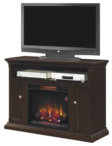 Cannes Tv Stand With 23 Infrared Quartz Fireplace Antique Oak Traditional Indoor