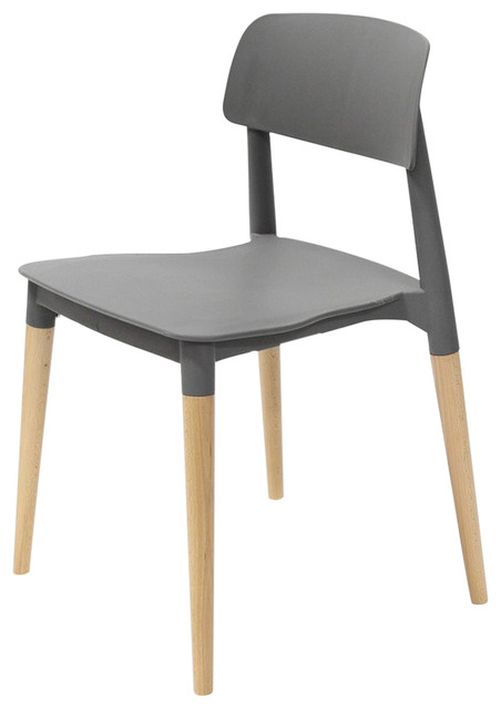Lucent modern plastic white chair plastics seat wood for White plastic kitchen chairs