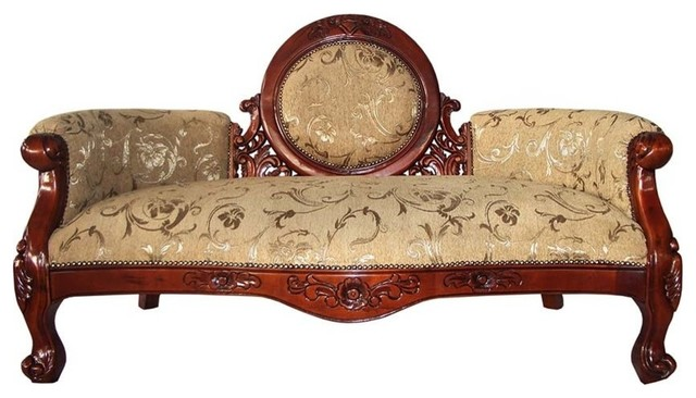 Victorian Cameo Backed Settee.