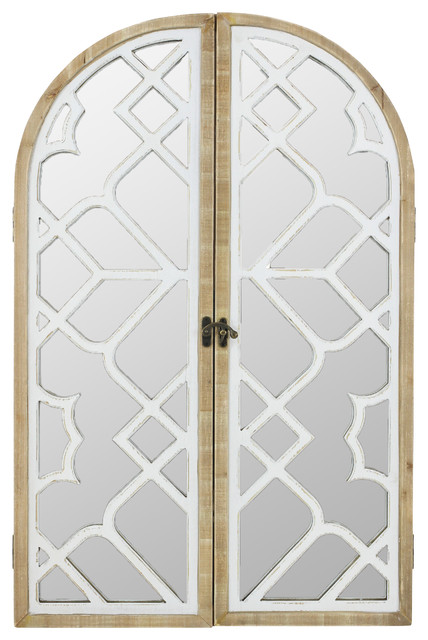 Coralie Arch Wall Mirror With Doors.