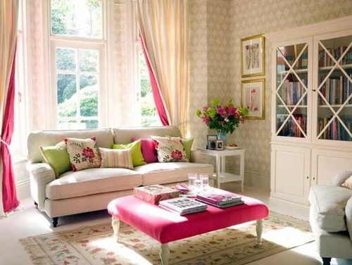 What colour carpet goes best with a floral living room?
