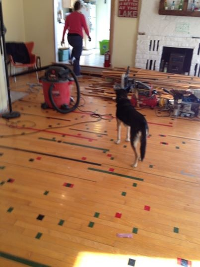 How Do I Refinish Reclaimed Gym Floor Without Losing The