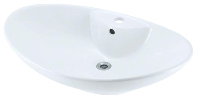 Polaris P2012vw Porcelain Vessel Sink Triple Glazed.