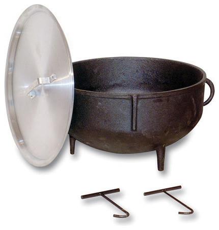 King Kooker 5-Gallon Heavy-Duty Cast Iron Jambalaya Pot.