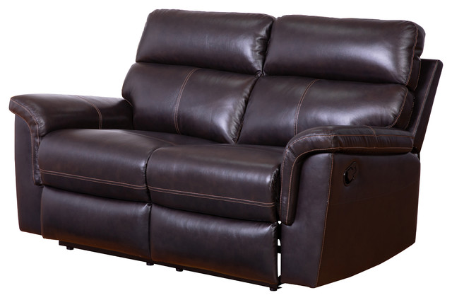 Amazing Penelope Top Grain Brown Recliner Leather Loveseat Unemploymentrelief Wooden Chair Designs For Living Room Unemploymentrelieforg