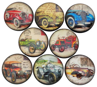 Antique Cars Cabinet Knobs, 8-Piece Set - Contemporary - Cabinet And Drawer Knobs - by Twisted R ...