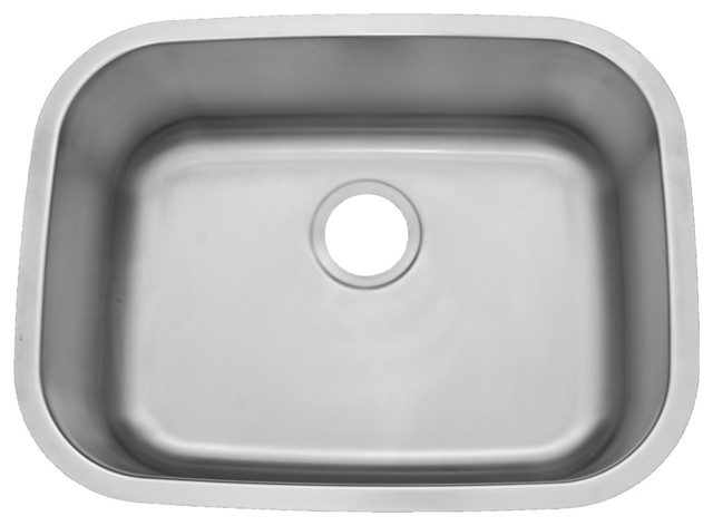 Nice ADA Compliant 20 Gauge Stainless Steel Undermount Sink, Medium Single Bowl  Traditional Kitchen