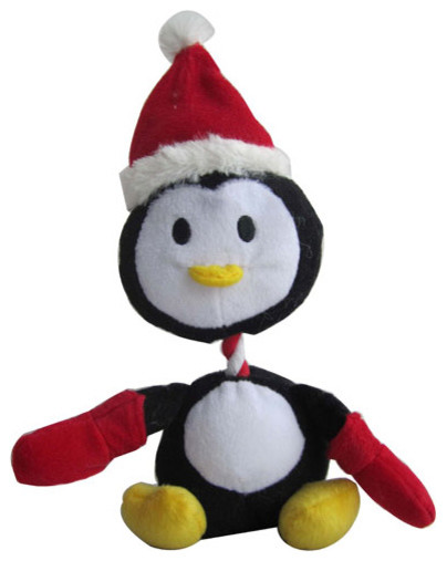 Christmas Penguin Squeaky Pet Toy - Contemporary - Holiday Accents And ...