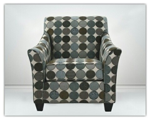 Ez Chair Accent Chair In A Circles Pattern Fabric