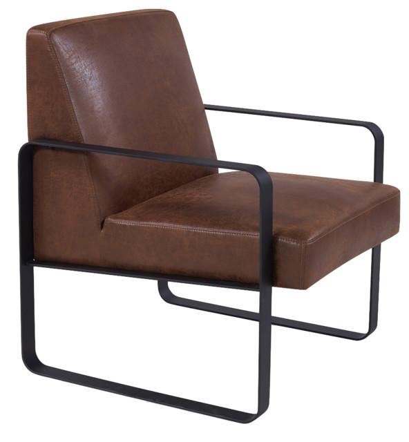 Peachy Warhol Modern Accent Chair Distressed Brown Machost Co Dining Chair Design Ideas Machostcouk