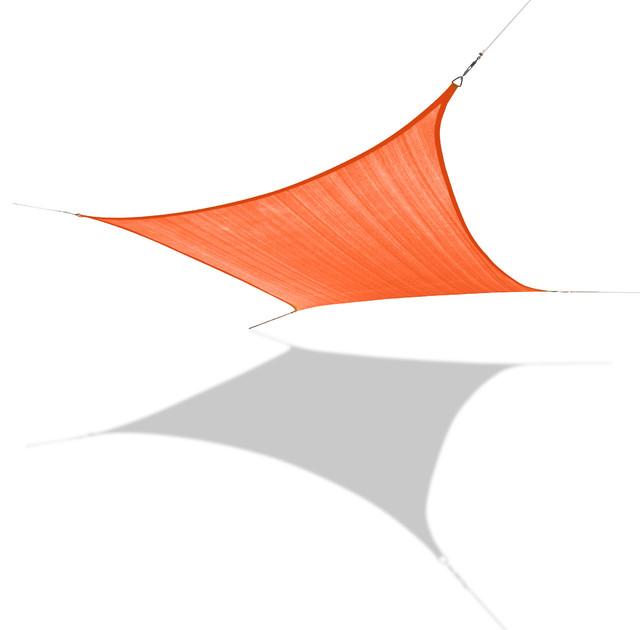 "Sun Shade Sail Medium Square 10&x27; 11"" X 10&x27; 11"", Orange."