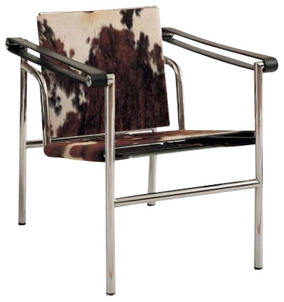 Corbusier Sling Chair Cowhide Contemporary Armchairs