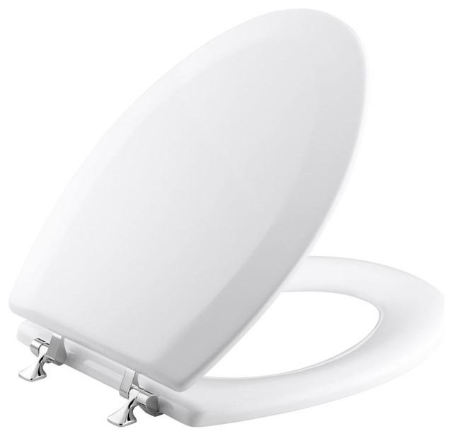 Awe Inspiring Kohler K 4722 T 0 Triko Closed Front Molded Wood Elongated Toilet Seat White Beatyapartments Chair Design Images Beatyapartmentscom