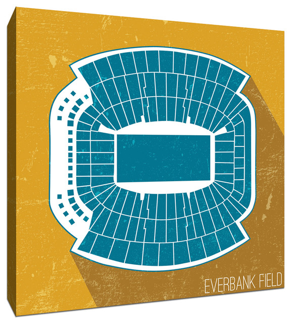 Everbank Field Nfl Seat Map Canvas 9x9