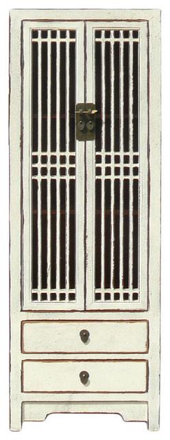 Shutter Cabinets Doors : Rustic White Shutter Doors Tall Narrow Cabinet  Farmhouse