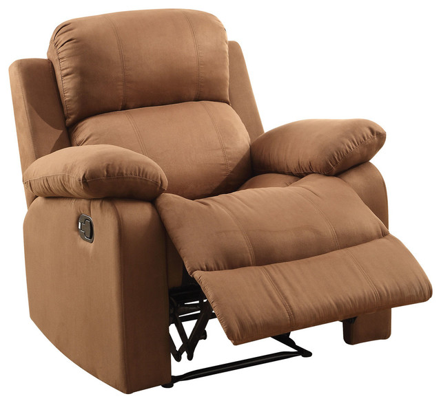 ACME Parklon Recliner Brown Contemporary Recliner Chairs on Oliver Power Recliner Leather
