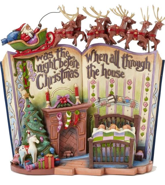 Enesco Jim Shore Night Before Christmas Storybook Figurine