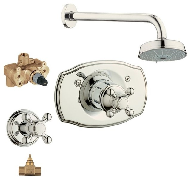 Geneva Shower Valve Kit Traditional Tub And Shower Faucet Sets By Trans
