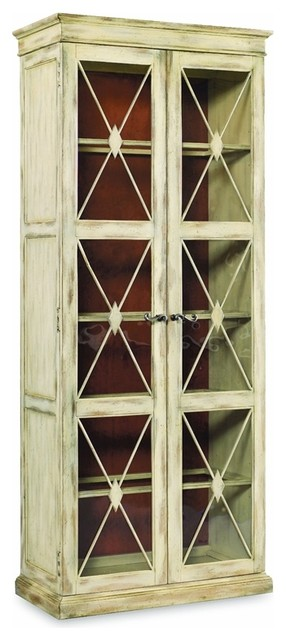 Two Door Thin Display Cabinet, Dune Farmhouse China Cabinets And