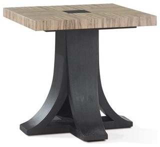 Allan Copley Designs Bonita 24 Square Zebrawood Pedestal Table