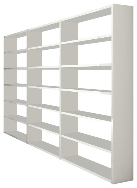 Torero Triple Bookcase, White Gloss