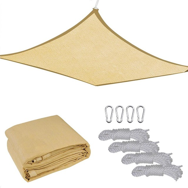 13x10&x27; Outdoor Patio Rectangle Sun Sail Shade Cover Canopy Top Shelter With Rope.