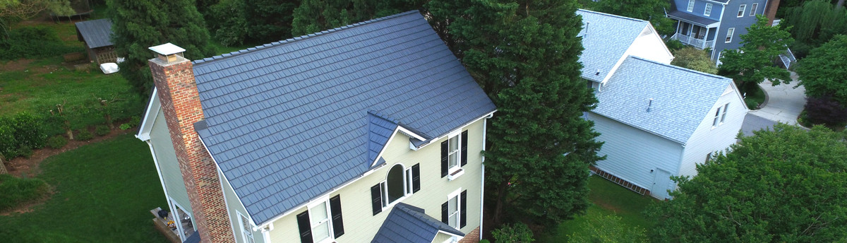 Rustic Shingle Metal Roof In Vermont Slate Color