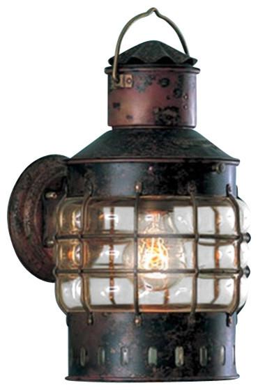 weems plath copper wall anchor lantern beach style. Black Bedroom Furniture Sets. Home Design Ideas