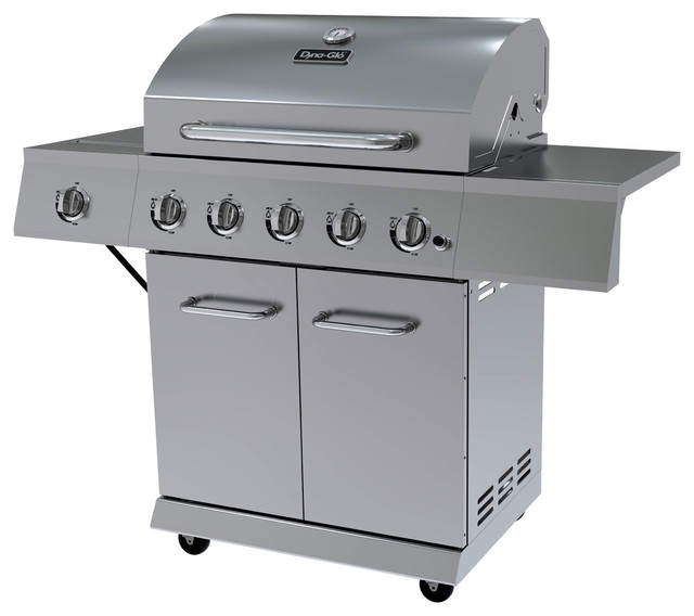 Dyna-Glo 5 Burner Stainless Steel Lp Gas Grill.