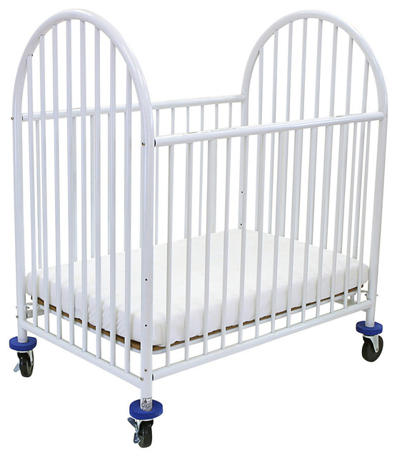 Arched Metal Compact Crib - Contemporary - Cribs - by L.A.Baby
