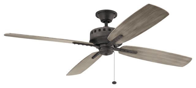65 Ceiling Fan, Weathered Zinc.