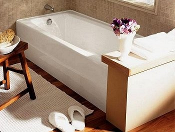 How To Get Streamlined Look From An Alcove Tub With Tile Flange.