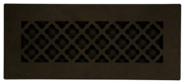 Steel Return Vent Cover, Oil-Rubbed Bronze, Fits Duct Opening 12x4.