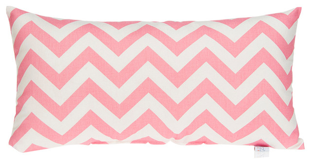 Swizzle Pink Chevron Rectangle Pillow - Contemporary - Decorative Pillows - by Glenna Jean
