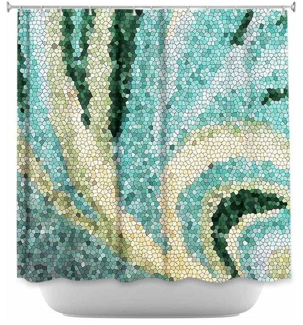 Mosaic Swirl Shower Curtain - Contemporary - Shower Curtains - by ...