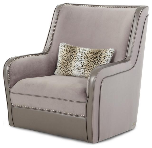 Aico Michael Amini Hollywood Swank Upholstered Swivel Chair