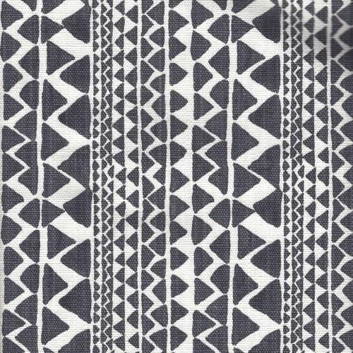 Mario Black Flame Dark Gray Slub Shower Curtain Cotton