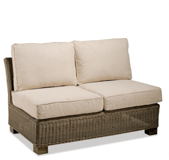 Superb Sanibel Wicker Outdoor Armless Loveseat Contemporary Patio Furniture And  Outdoor Furniture