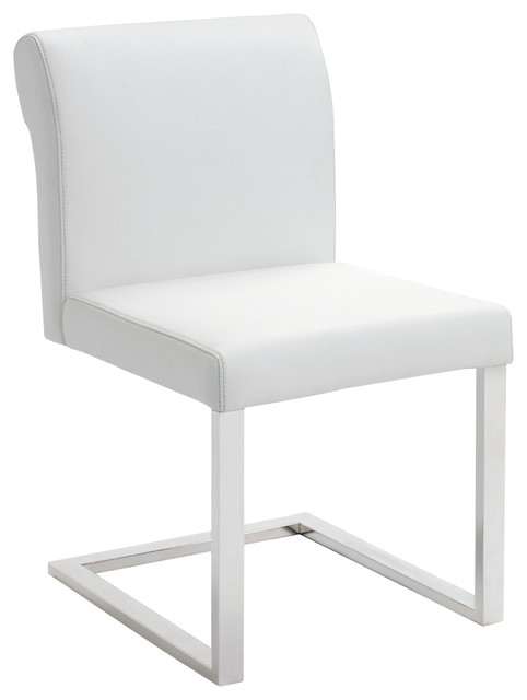 Bruno White Leather Dining Chair