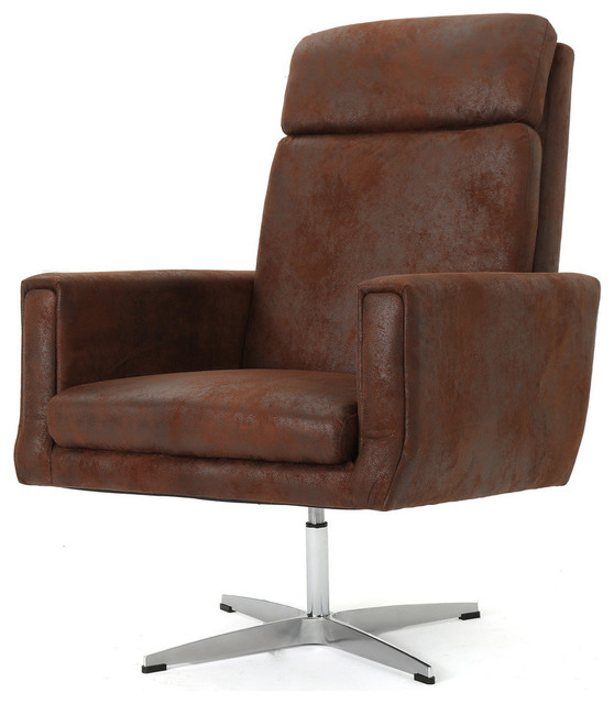 GDF Studio Hooper Modern Microfiber Swivel Accent Chair   Contemporary    Armchairs And Accent Chairs   By GDFStudio