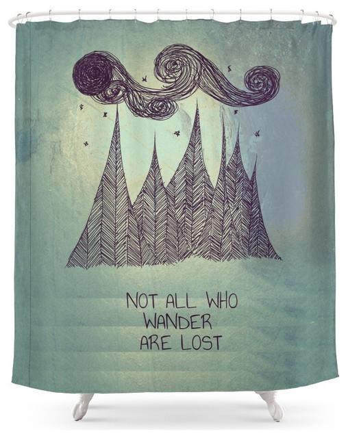 Superb Society6 Not All Who Wander Are Lost Shower Curtain Contemporary Shower  Curtains