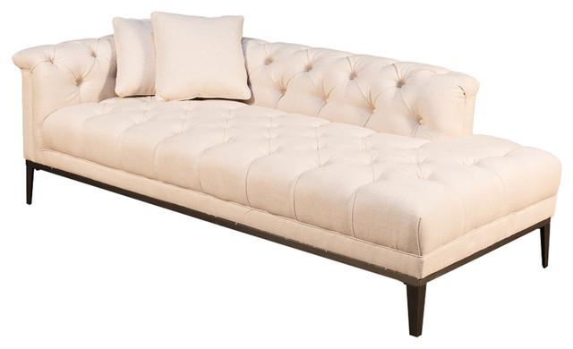 Sarreid Ltd Fainting Couch Off White