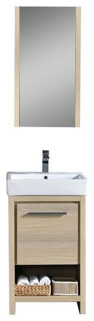 Milan 20 Vanity Set With Medicine Cabinet, Briccole Oak.