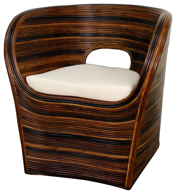modern tropical furniture. dylan rattan armchair stripes natural tropicalarmchairsandaccentchairs modern tropical furniture