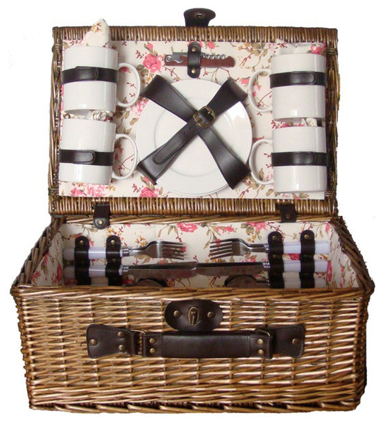 Sunrise Willow 4 Person Picnic Basket