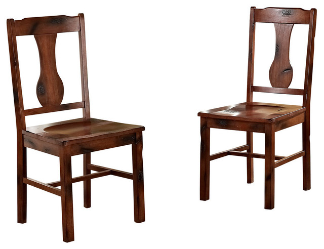 Walker Edison   Wood Dining Chairs, Set Of 2   Dining Chairs