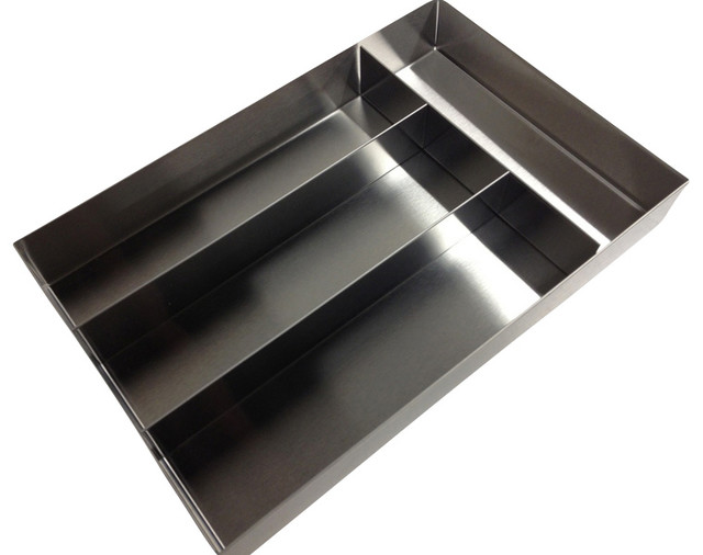 4 Compartment Stainless Steel Cutlery Tray